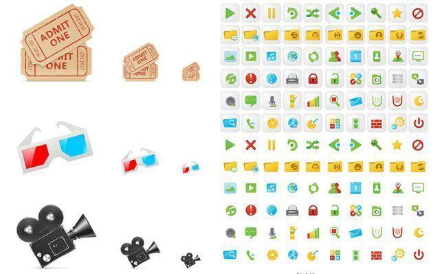 Свежие бесплатные наборы иконок Candy UI и Movie
