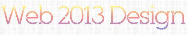 Тенденции веб дизайна 2013
