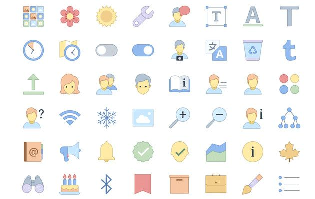 Бесплатные отзывчивые иконки для офисных приложений и сайтов