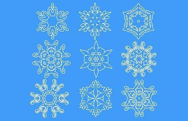 Как сделать снежинку | Уроки фотошопа для начинающих