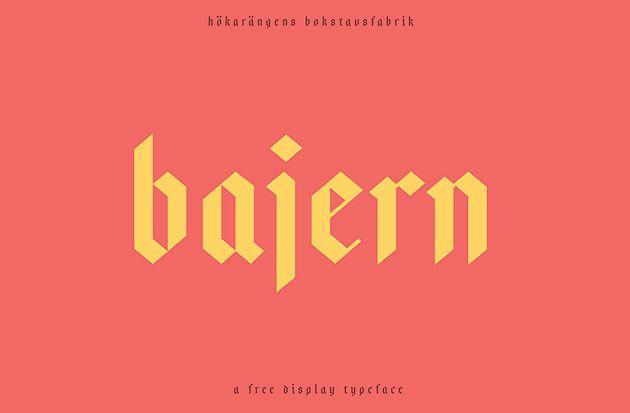 Bajern — бесплатный и элегантный шрифт под готику