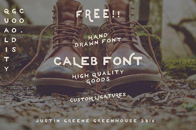 Caleb — необычный рукописный шрифт для флаеров