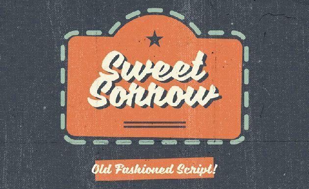 Sweet Sorrow — классный ретро шрифт