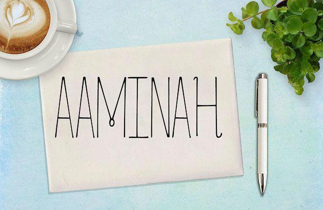 Aaminah — очень художественный тонкий рукописный шрифт