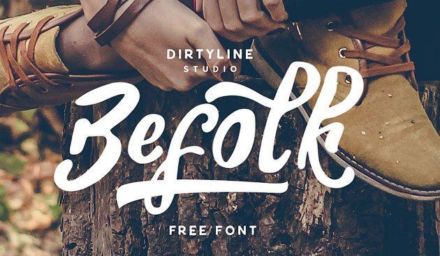 Befolk — элегантный кисточковый шрифт для леттеринга