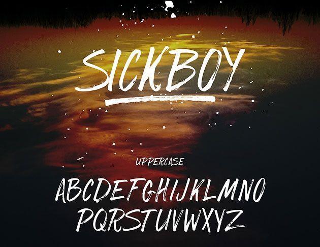 SickBoy — энергичный рукописный маркерный шрифт