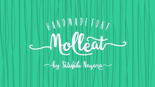 Molleat — бесплатный рукописный кисточковый шрифт