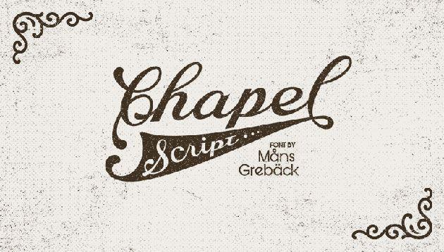 Chapel Script — бесплатный шрифт в стиле леттеринга