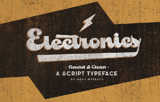 Electronics — бесплатный жирный псевдо-рукописный шрифт