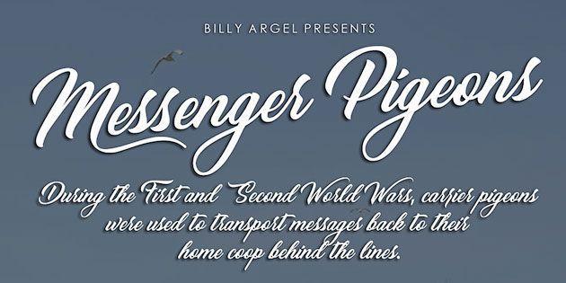 Messenger Pigeons — стильный бесплатный каллиграфический шрифт