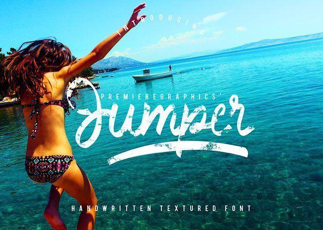 Jumper — отличный маркерный «сухой» бесплатный шрифт