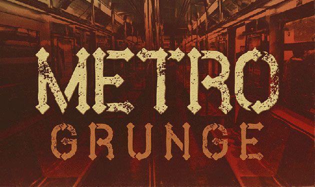 Metro Grunge — уникальный и очень красивый гранжевый шрифт