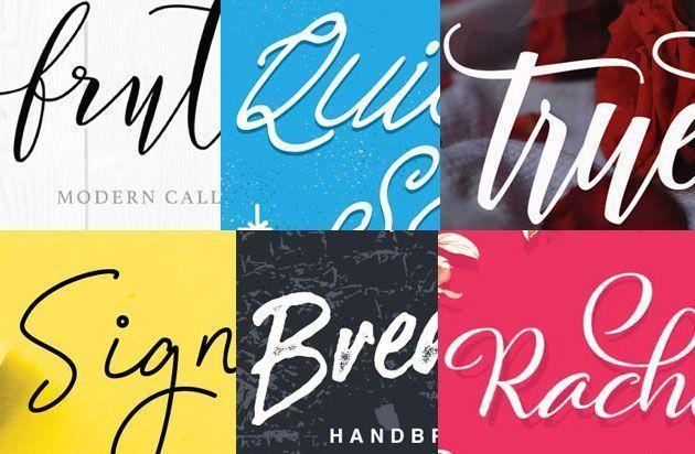 Красивые бесплатные декоративные шрифты для фотошопа