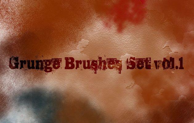 10 кистей в стиле Grunge для Photoshop, vol.1