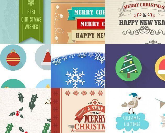 Рождественские и новогодние иконки и векторные изображения