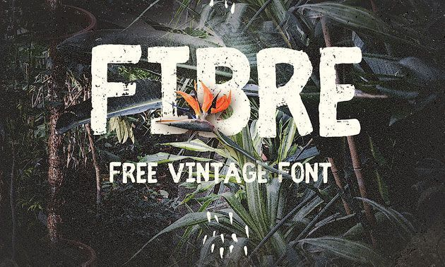 Fibre — бесплатный жирный винтажный шрифт