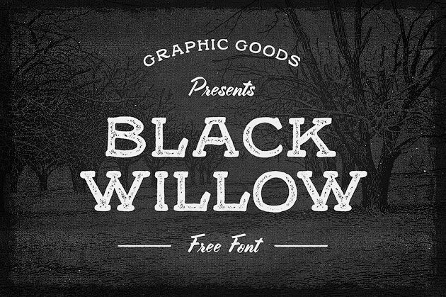 Black Willow — бесплатный «мелковый» шрифт под леттеринг