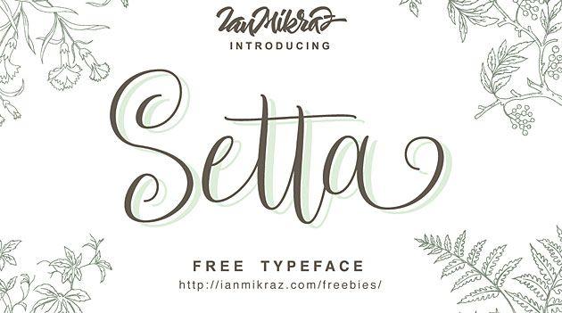 Setta Script — красивый бесплатный рукописный шрифт