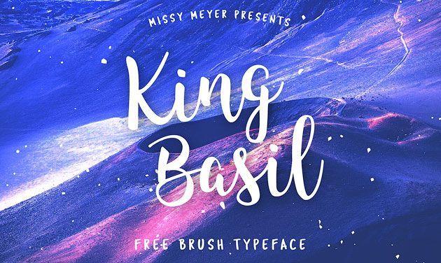 King Basil — бесплатный рукописный шрифт-кисточка