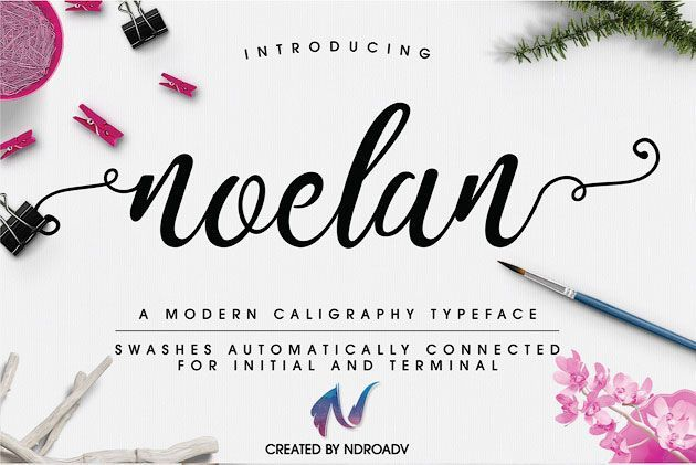 Noelan — современный каллиграфический шрифт для плакатов, флаеров и пр.