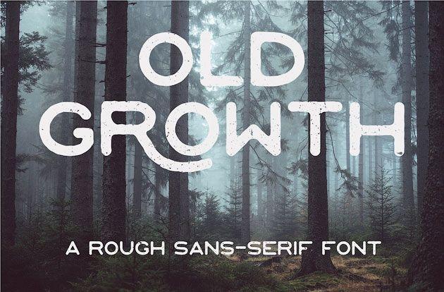 Old Growth — необычный и красивый шрифт