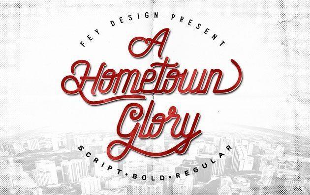 Hometown — очень элегантный тонкий шрифт в стиле ретро