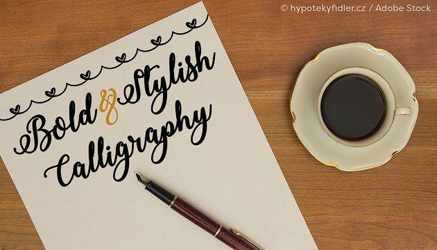 Bold & Stylish Calligraphy — красивый каллиграфический шрифт