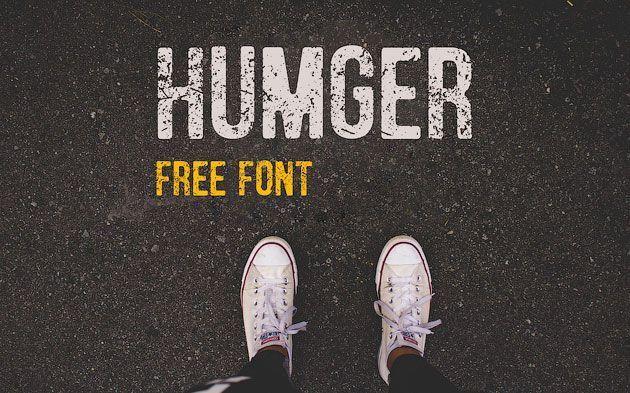 Humger — стильный гранжевый потертый шрифт
