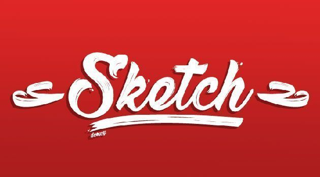 Sketch — бесплатный рукописный шрифт в стиле широкая кисть