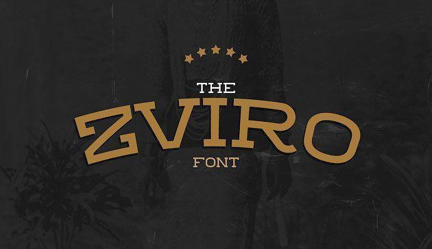 Zviro — симпатичный и элегантный шрифт с засечками