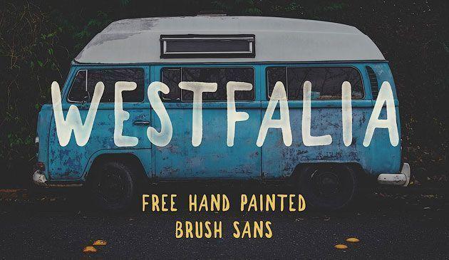 Westfalia — бесплатный рукописный лаконичный кисточковый шрифт