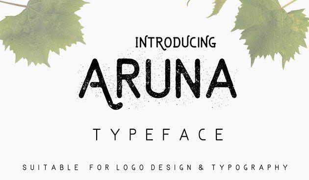 Aruna — элегантный бесплатный шрифт для лого