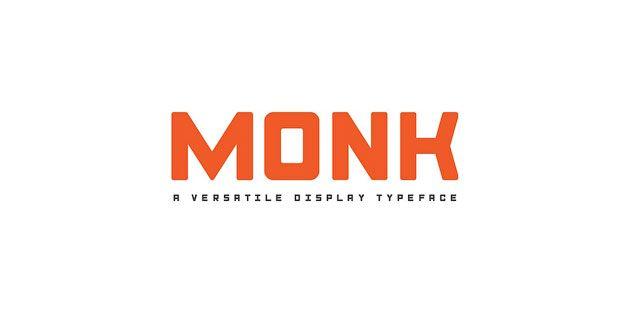 Monk — универсальный бесплатный шрифт для логотипов