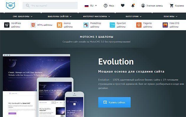 Как создать сайт, используя конструктор сайтов и готовый дизайн