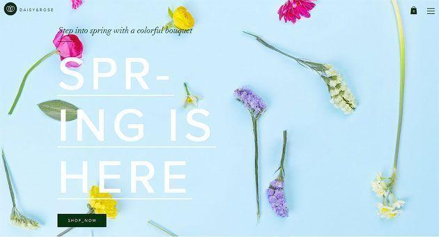 шаблон сайта для интернет-магазина цветов